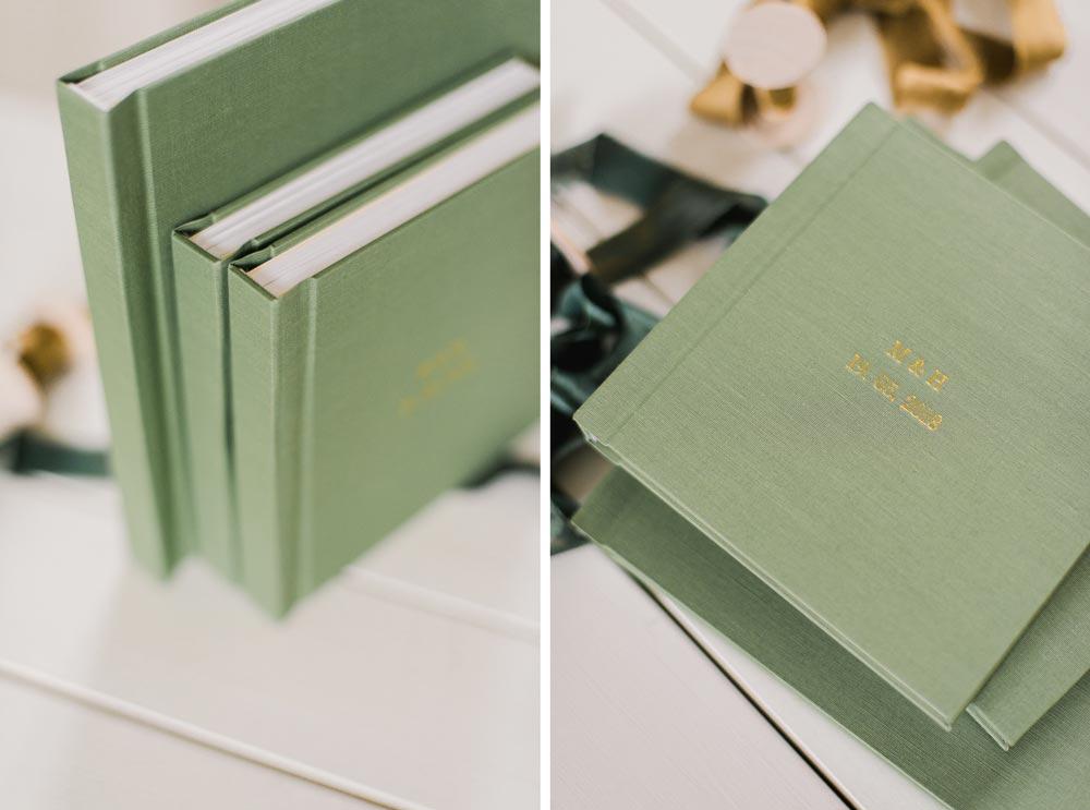 album di matrimonio e mini regalo genitori